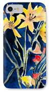 Yellow Daylilies IPhone Case by Arline Wagner
