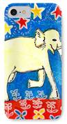Yellow Elephant Facing Right IPhone Case by Sushila Burgess