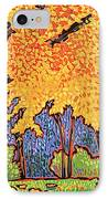 Yellow Tree IPhone Case by Nadi Spencer