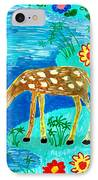 Young Deer Drinking IPhone Case by Sushila Burgess