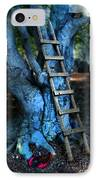 Young Woman Climbing A Tree IPhone Case