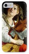Young Woman With A Violin IPhone Case