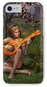 Young Women Playing The Lute IPhone Case