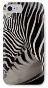 Zebra Head IPhone Case by Carlos Caetano