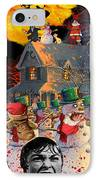 Zombie Snowmen Christmas IPhone Case by Barry Kite