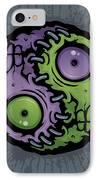 Zombie Yin-yang IPhone Case by John Schwegel