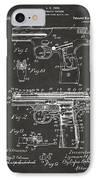 1911 Automatic Firearm Patent Artwork - Gray IPhone Case