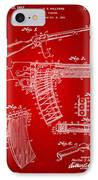 1937 Police Remington Model 8 Magazine Patent Artwork - Red IPhone Case