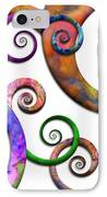 Abstract - Spirals - Planet X IPhone Case