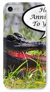 Alligator Anniversary Card IPhone Case