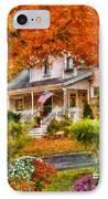 Autumn - House - The Beauty Of Autumn IPhone Case