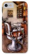 Barber - The Barber Chair IPhone Case