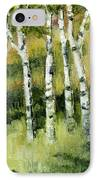 Birches On A Hill IPhone Case