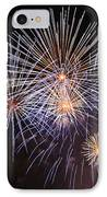 Blue Fireworks At Night IPhone Case