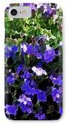 Blue Flowers On Sun IPhone Case
