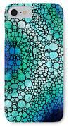 Blue Green Energy - Stone Rock'd Art Panting IPhone Case