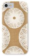 Brown And White Floral IPhone 8 Case by Linda Woods