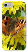 Butterfly Yellow IPhone Case