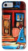 Cafe Laurier Montreal IPhone Case
