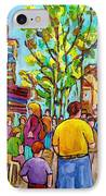 Cafes In Springtime IPhone Case