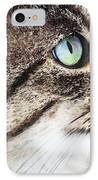 Cat Art - Looking For You IPhone Case