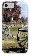 Civil War Cannons At Gettysburg National Battlefield IPhone Case