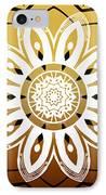 Coffee Flowers Calypso Triptych 2 Horizontal   IPhone Case