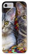 Curious Kitties IPhone Case
