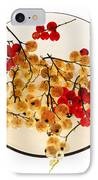 Currants On A Plate IPhone Case