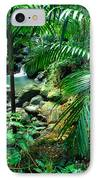 El Yunque Palm Trees And Waterfall IPhone Case