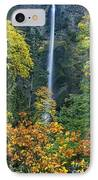 Fall Colors Frame Multnomah Falls Columbia River Gorge Oregon IPhone Case