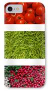 Fresh Vegetable Triptych IPhone Case