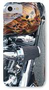 Harley Close-up Skull Flame  IPhone Case