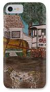 Johnsons Milk Wagon Pulled By A Horse  IPhone Case