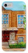 Legare And Hutchison Synagogue Montreal IPhone Case