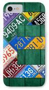 Letter E Alphabet Vintage License Plate Art IPhone Case