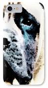 Mastif Dog Art - Misunderstood IPhone Case