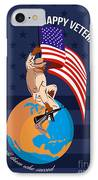 Modern American Veterans Day Greeting Card IPhone Case