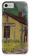 Monon Clear Creek Indiana Train Depot IPhone Case