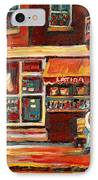 Montreal Street Scene Paintings IPhone Case