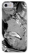 Motorcycle Close-up Bw 2 IPhone Case