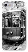 New Orleans Streetcar Black And White Picture IPhone Case