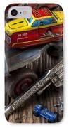 Older Roller Skate And Toys IPhone Case