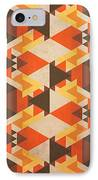 Orange Maze IPhone Case