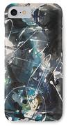original abstract blue and black painting for sale-Blue Valley IPhone Case