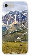 Panorama Of Rocky Mountains In Jasper National Park IPhone Case
