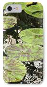 One Pink Water Lily With Lily Pads IPhone Case