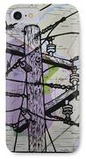 Power Lines On Map IPhone Case
