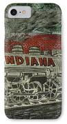 Scrapping Hoosiers Indiana Monon Train IPhone Case