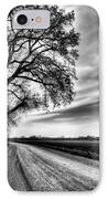 The Dirt Road In Black And White IPhone Case